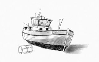 sketch of boat - lyn may
